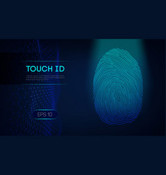 Personal digital identifiers touch id scan vector