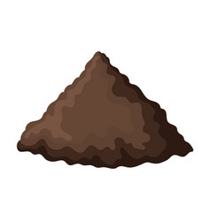 Pile soil iconcartoon icon isolated vector