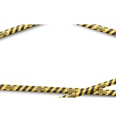 Police Line Tape vector image