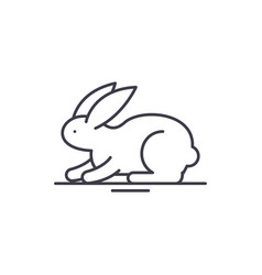 rabbit line icon concept rabbit linear vector image