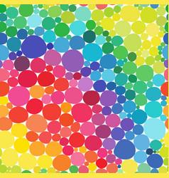Rainbow circles seamless pattern vitamin vector