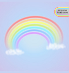 rainbow in the clouds summer symbol vector image