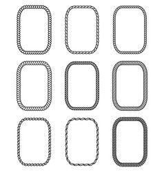 Rope set rectangular frames collection of vector