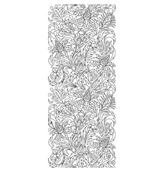 Seamless borders set in doodle style vector
