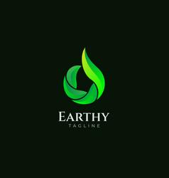 Simple clean leaf logo design template vector