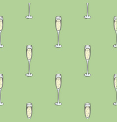 Sparkling wine seamless pattern vector