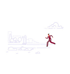 sportswoman jogging runner woman running outdoor vector image