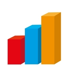 Statistics graphic isolated flat icon vector image