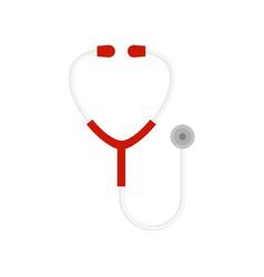 stethoscope icon flat style vector image