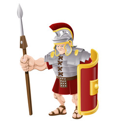 strong roman soldier vector image