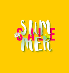 summer sale logo vector image