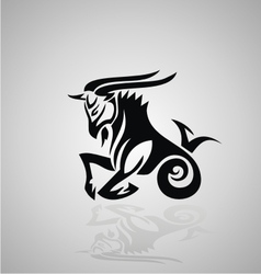 Tribal Capricorn vector
