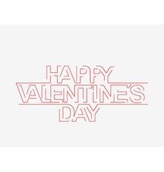 Valentines day text design element vector image