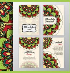 Vintage invitation and background design vector