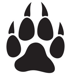 wolf paw print vector image