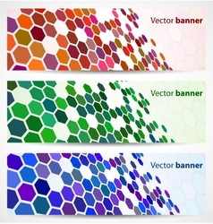 Abstract digital banners vector image vector image
