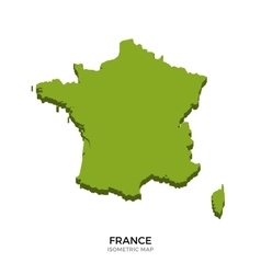 Isometric map of France detailed vector image