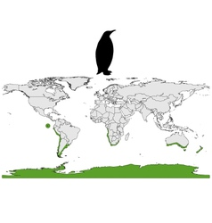 Penguins range vector image