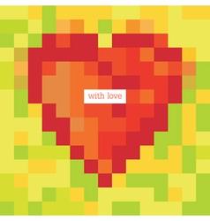 pixel heart symbol vector image