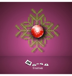 Violet Abstract Merry Christmas Background vector image vector image