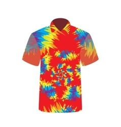 Colorful T-shirt depicting abstract psychedelic vector image vector image