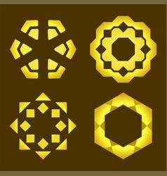 decorative line art frames for design template vector image