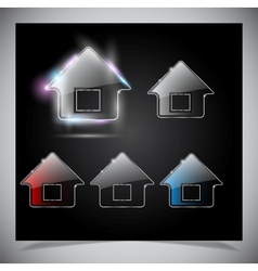 Glass house icon vector image