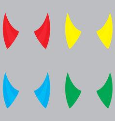 Horns devil set color vector image vector image