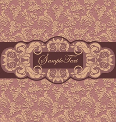 Invitation card style damask vector image vector image