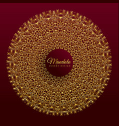 Luxury mandala banner design vector