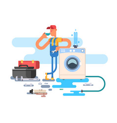 repair of washing machines vector image vector image
