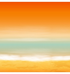 Sea sunset vector image vector image