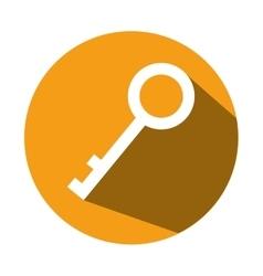 security key icon vector image vector image
