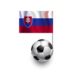 Soccer Balls or Footballs with flag of Slovakia vector image vector image
