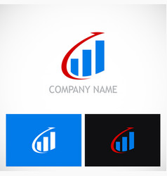 arrow business finance stock logo vector image