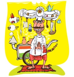 Indian chef vector image