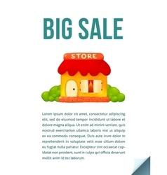 Little cute shop icon in cartoon style Big Sale vector image vector image