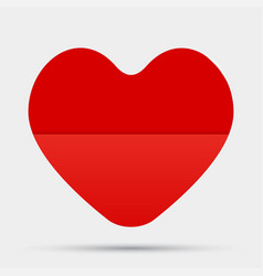 One red heart valentines day love card vector