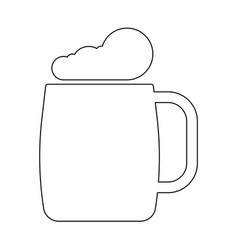 glass of beer the black color icon vector image vector image