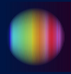 multicolor lines in circle shape vector image vector image