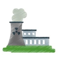nuclear power station energy pollution ed vector image