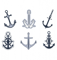 set of anchor symbols vector image