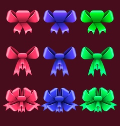Set with colorful bows vector image vector image