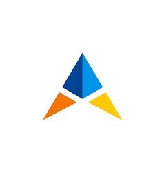 triangle simple color logo vector image vector image