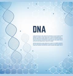 Abstract genetics science background vector