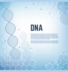 Abstract genetics science background with vector