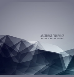 Abstract low poly dark background vector