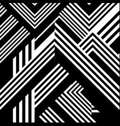 abstract pattern with black white striped lines vector image