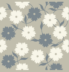 Abstract pattern with elegant flowers and leaves vector