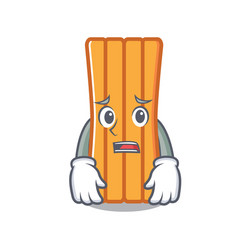Afraid air mattress mascot cartoon vector